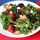 Berry and Bacon Kale Salad with Blackberry Jam Vinaigrette 1