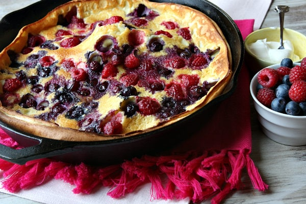 Double Berry Puff Pancake recipe - from RecipeGirl.com