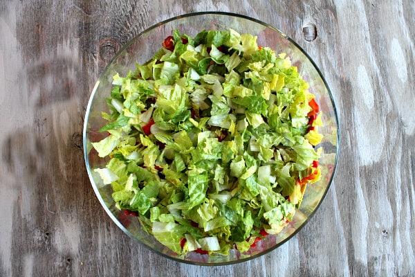 Tex Mex Layered Salad - recipe from RecipeGirl.com