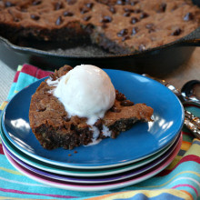 Skillet Chocolate Chip Cookies 1