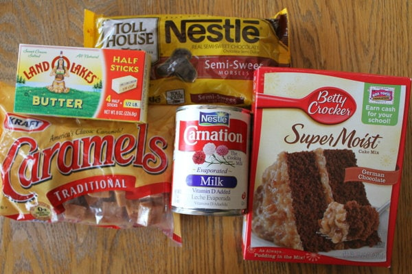 ingredients laid out for basement brownies