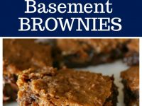Pinterest collage image for Basement Brownies