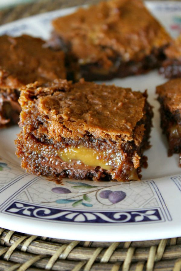 Chocolate Caramel Basement Brownies