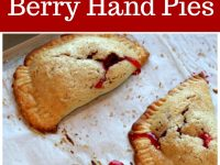 pinterest collage image for berry hand pies