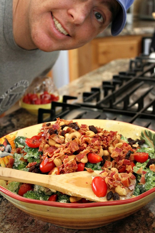 Preparing Broccoli Salad