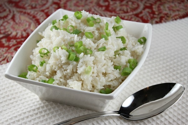 Coconut Rice - recipe from RecipeGirl.com