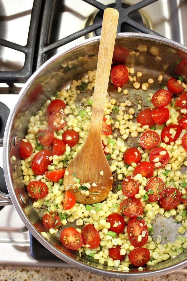 corn sweet onion and tomato salad recipes dishmaps fresh corn tomato ...