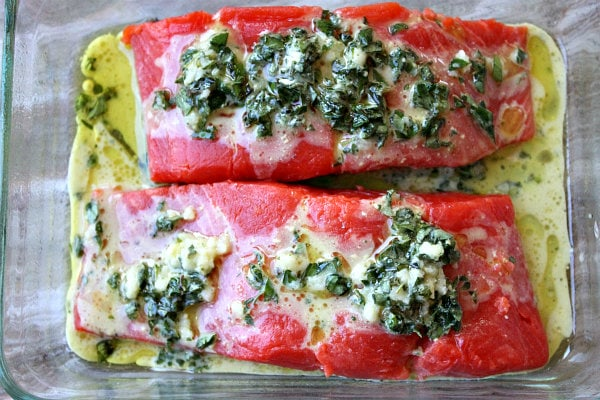 Lemon Oregano Salmon with Roasted Tomatoes - Recipe Girl