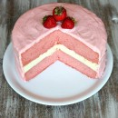Strawberry Cheesecake Cake 1