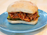 Pulled Barbecued Chicken Sandwiches 1