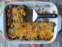 Beef and Bean Enchilada Casserole 1