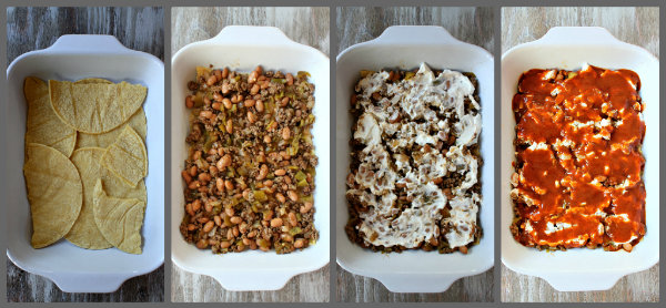 How to Make Beef and Bean Enchilada Casserole