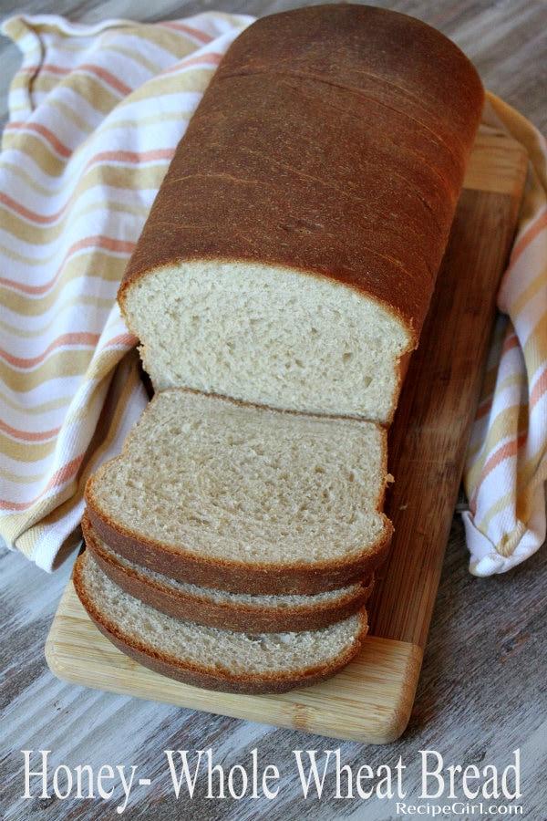 Honey Whole Wheat Bread recipe: the perfect sandwich bread recipe from RecipeGirl.com #bread #wholewheat #honey #baking #homemade #recipe