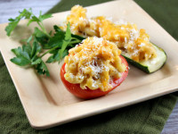 Macaroni and Cheese Stuffed Roasted Vegetables 1