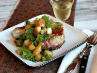 Pan Seared Pork Chops with Pear Mostarda 1