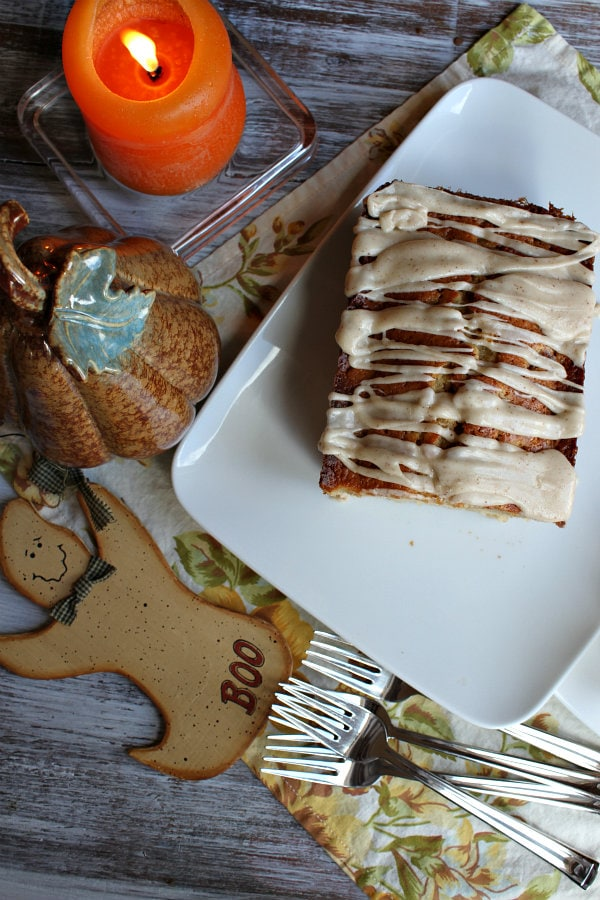 Spiced Pear Cake with Browned Butter Icing 5