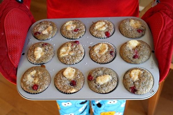 RecipeGirl Cranberry Cheesecake Muffins