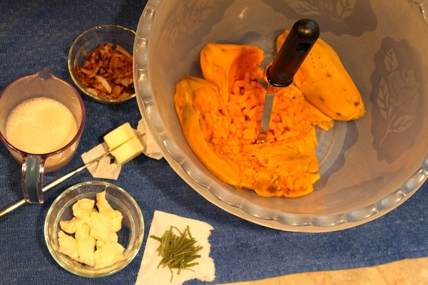 Mashed Sweet Potatoes With Caramelized Onions, Brie And Sage Recipes ...