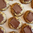Pumpkin- Oatmeal Candy Bar Cookies 6