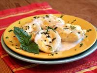 Cheese Stuffed Shells with Bechamel Sauce 1