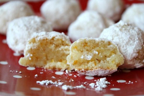 Gluten Free Orange Almond Snowballs