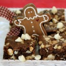 White Chocolate Macadamia Nut Gingerbread Bars