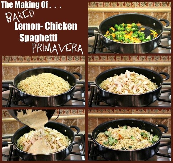 How to make Baked Lemon Chicken Spaghetti Primavera