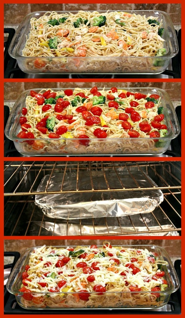 How to bake Baked Lemon Chicken Spaghetti Primavera