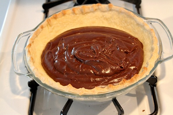 Making Chocolate Cream Pie