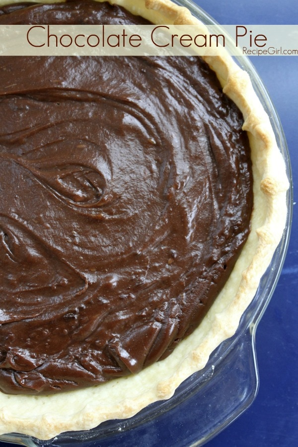 Chocolate Cream Pie recipe - from RecipeGirl.com