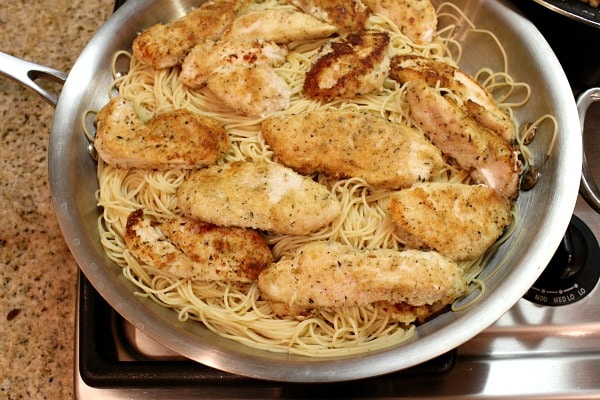 Easy Skillet Chicken Parmesan - recipe from RecipeGirl.com