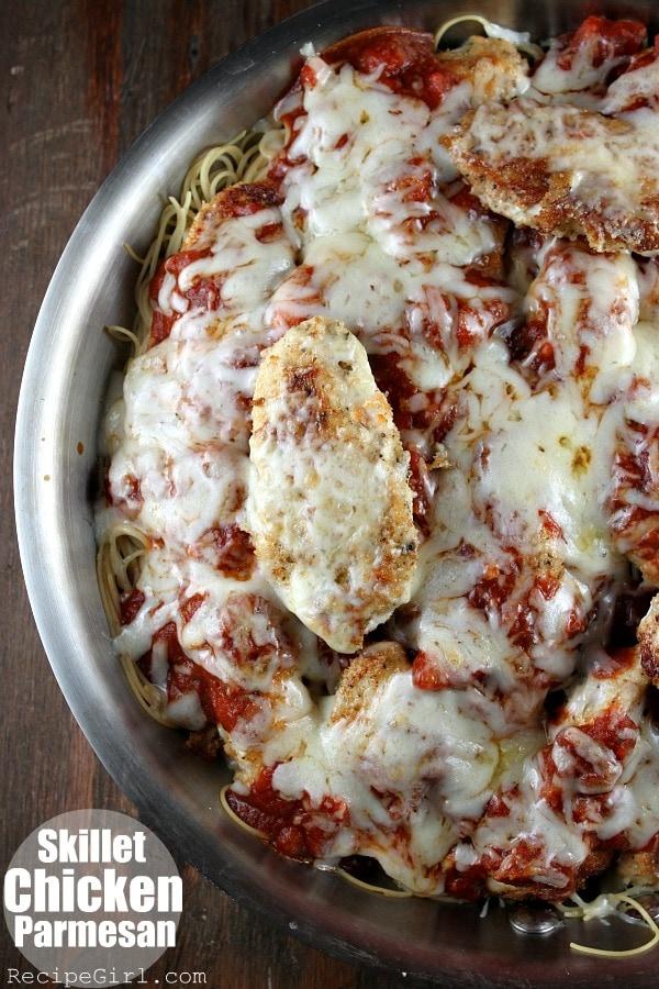 Skillet Chicken Parmesan - RecipeGirl.com