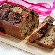Skinny Chocolate- Caramel Banana Bread