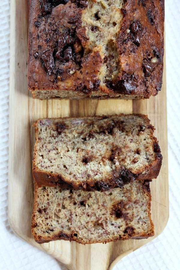 Skinny Chocolate- Caramel Banana Bread Recipe
