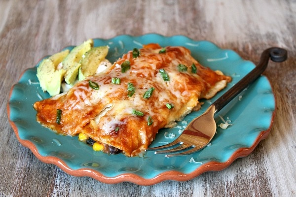 Vegetable Enchiladas 1