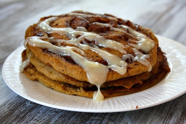 Pumpkin Cinnamon Roll Pancakes : This variety of cinnamon roll ...