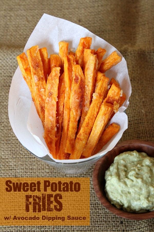 Sweet Potato Fries with Avocado Dipping Sauce