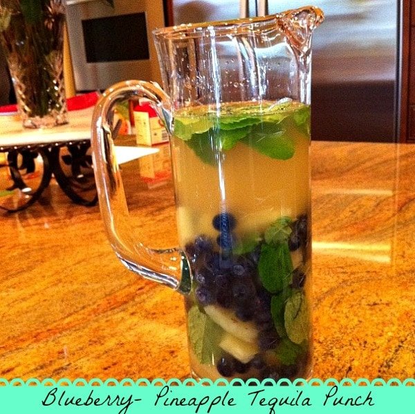 Blueberry Pineapple Tequila Punch