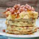 Ham and Swiss Griddle Cakes 1