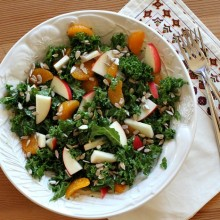 Marinated Kale Salad with Apples and Oranges
