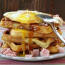 Ham and Egg Waffles