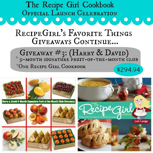 Harry and David and Recipe Girl Cookbook Giveaway