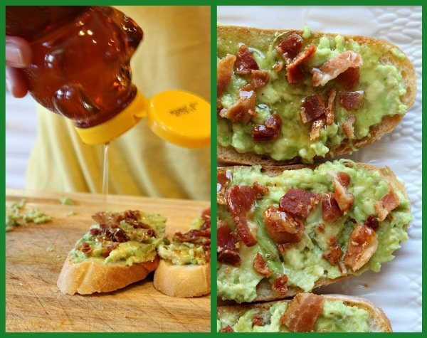 Avocado Bacon Toast with Honey