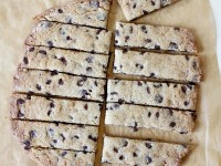 Chocolate Chip Toffee Strip Cookies - RecipeGirl.com