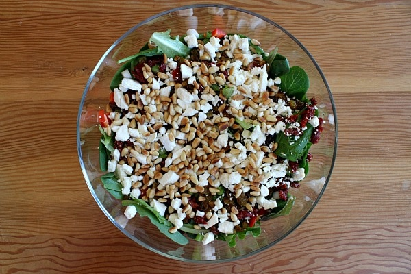 Preparing Easy Gourmet Salad