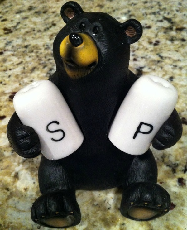 Bear Salt and Pepper