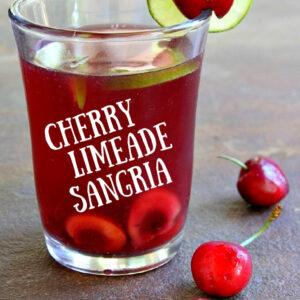 pinterest image for cherry limeade sangria