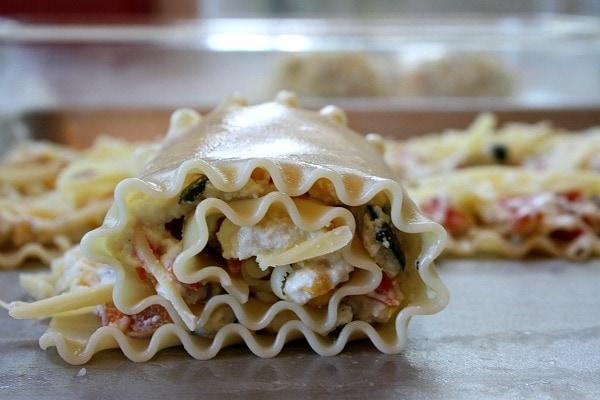 Roasted Vegetable Lasagna Roll Ups 4