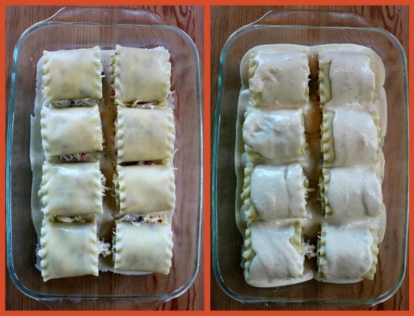 Roasted Vegetable Lasagna Roll Ups 5