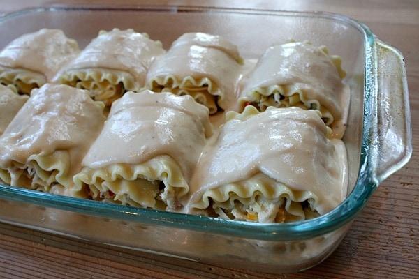Roasted Vegetable Lasagna Rolls